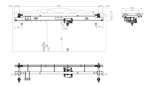 Подвесная кран-балка, мостовой кран, однобалочный кран, комплектующие для кранов